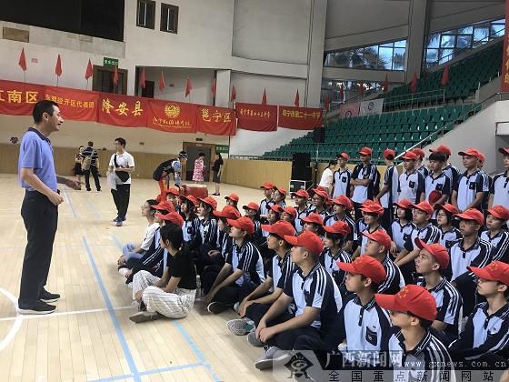 南宁四职给力!156名志愿者助力南宁市学生运动会