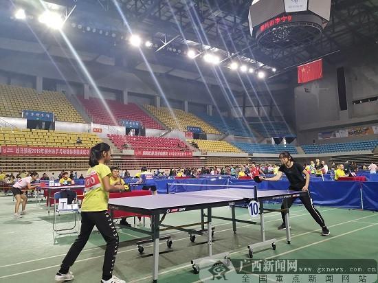 2019年威尼斯人网站市乒乓球锦标赛在李宁体育馆开赛