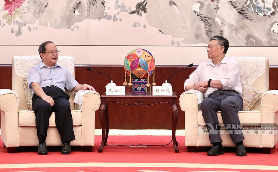 全国政协副主席刘新成来桂调研