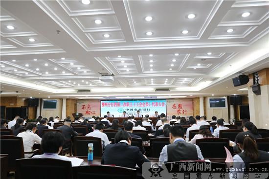 农行柳州分行召开四届二次职工(工会会员)代表大会