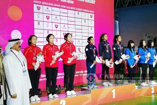 广西妹唐晓随队获亚洲射击锦标赛气手枪团体银牌