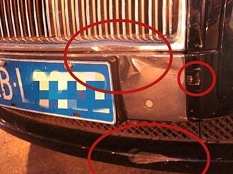 电动车闯红灯碰上劳斯莱斯,负全责!(视频/图)