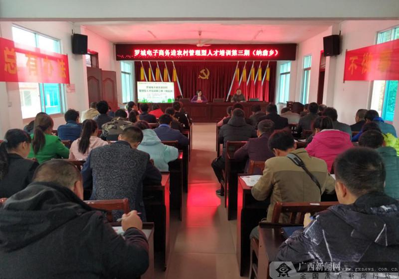 罗城深入开展农村电商管理型人才培训