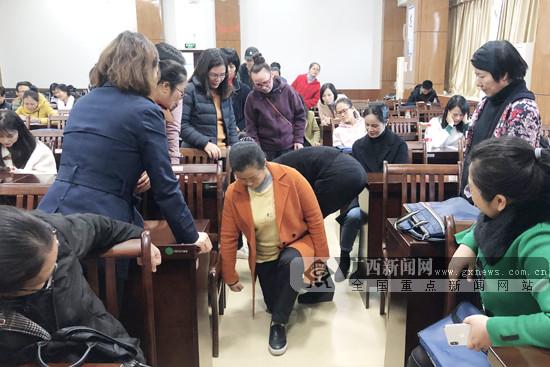 南宁体育局走进兴宁区举办全民健身健康知识讲座