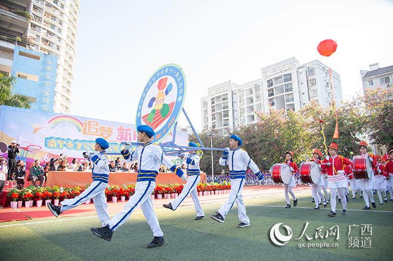 南宁卓立实验学校举办第十一届秋季田径运动会