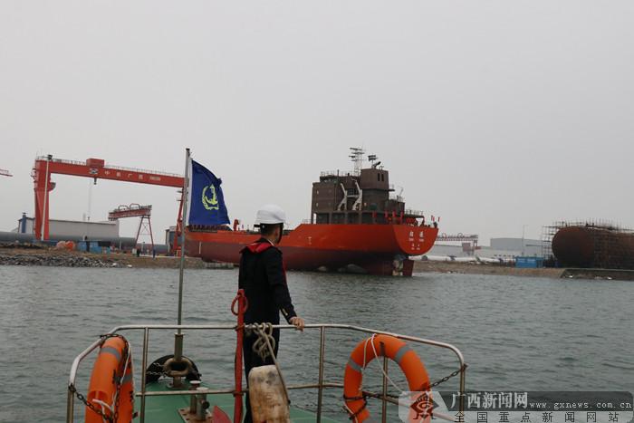 钦州海事部门为全国首艘新规范LPG船顺利下水保驾护航