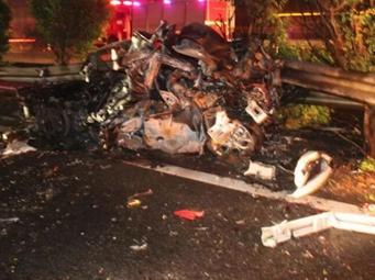 5车连撞!广西一大货车追尾致小车起火 5人身亡