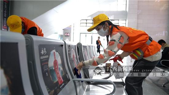 返程高峰將至 廣西鐵路部門防疫措施再升級