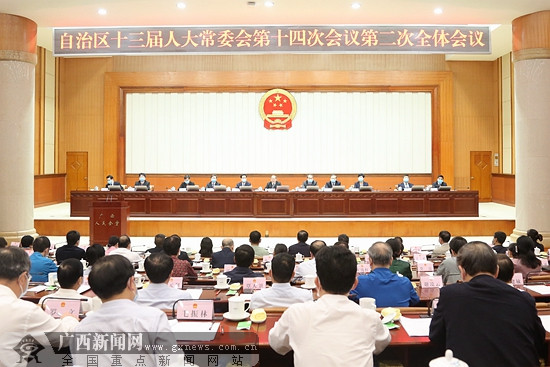 自治区十三届人大常委会第十四次会议闭会