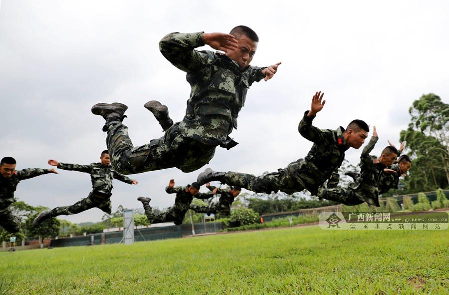 武警广西总队钦州支队:按纲施训,练强能力迎两会
