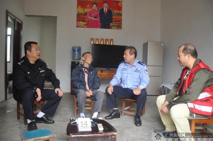 柳北公安分局走访、慰问贫困户