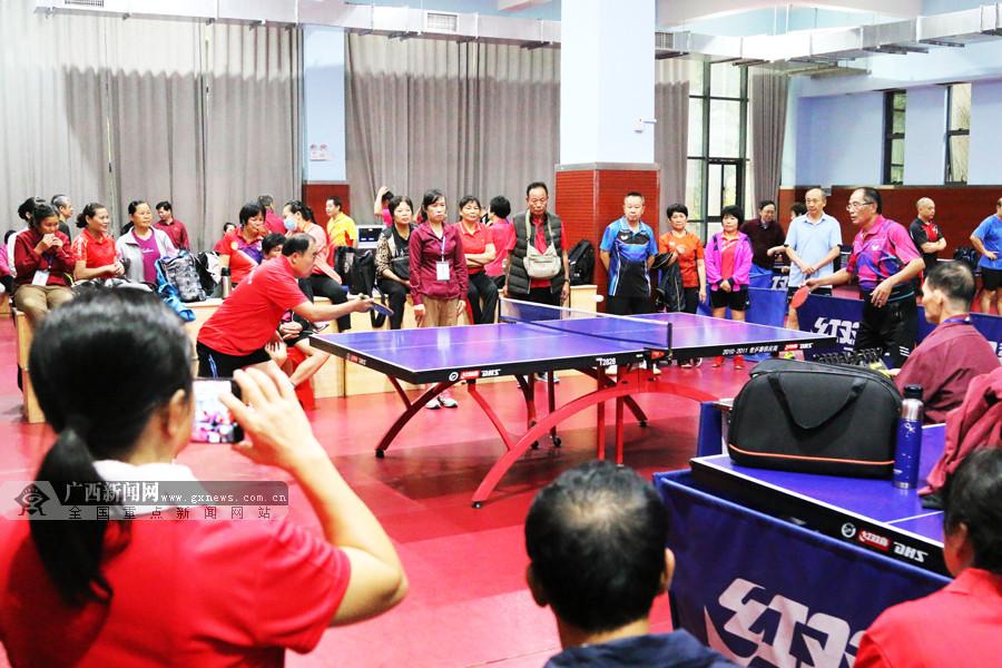 第二十届南宁市老年人乒乓球交流活动落下帷幕