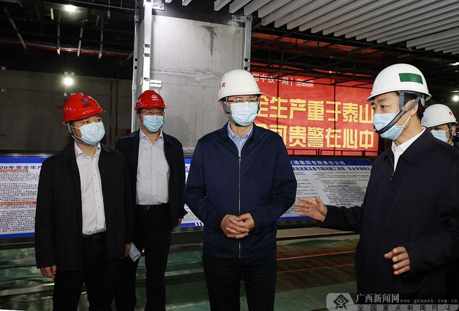 蓝天立在南宁检查节前安全生产、市场供应保障和粮油储备等工作