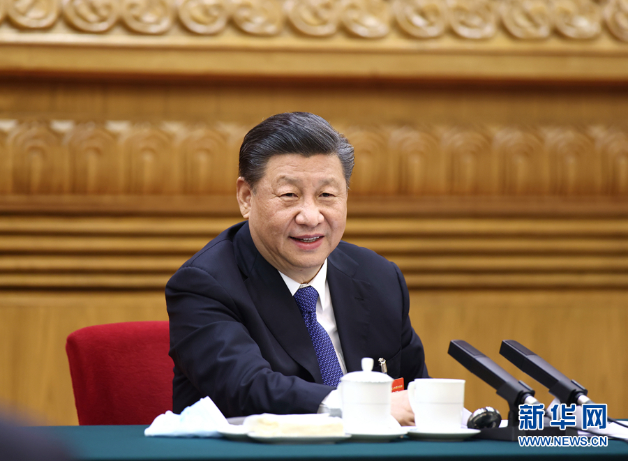 习近平参加内蒙古代表团审议