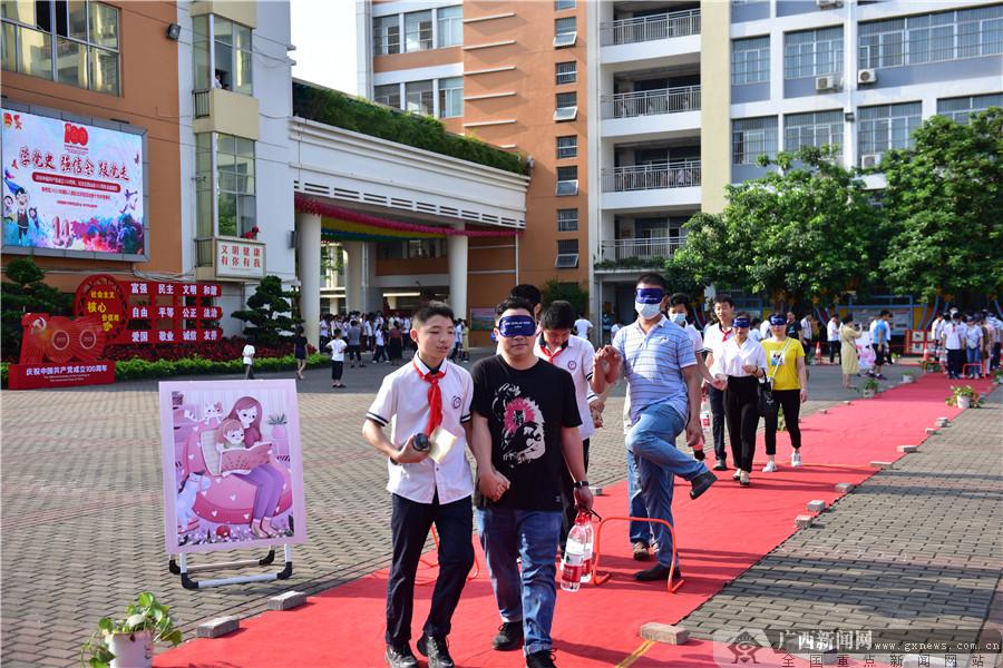 2021年青秀区离队入团仪式示范活动暨十四岁青春礼在仙葫学校举行