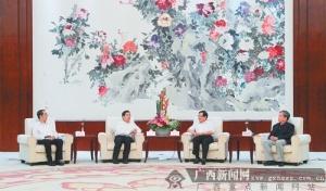 郭声琨马飚拜会全国政协副主席万钢