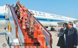 广西出席党的十八大代表抵京