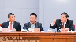 广西代表团讨论中纪委工作报告和党章修正案