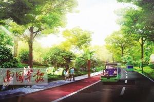 青秀山打造慢行通道