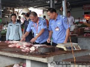 邕宁区严打私屠滥宰和病死病害肉非法交易