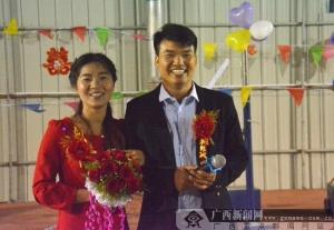 广西路建集团梧柳7标为新人举办工地婚礼