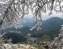 美丽的岑溪冰雪风光
