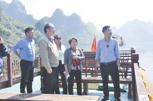 智慧旅游专家代表团到上林县调研