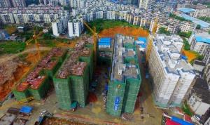 """让群众搬入""""新家"""" 融安加快易地扶贫搬迁房建设"""