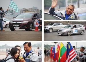 高清:2017中国—东盟汽车拉力赛在越南河内举行境外首场比赛