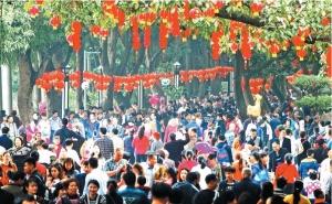 高清:2月16日大年初一 南宁市人民公园游人如织