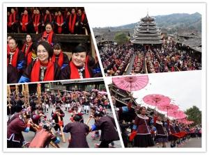 [新春走基层]广西三江:数百姐妹集中回娘家团聚闹新春(组图)