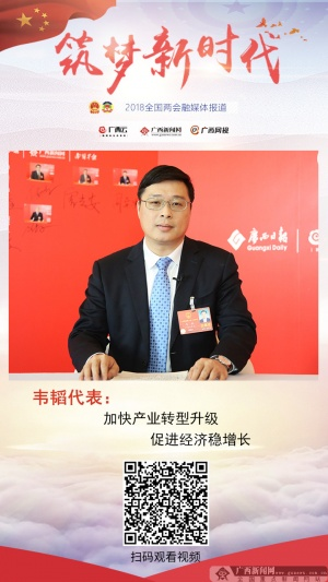 韦韬:加快产业转型升级 促进经济稳增长