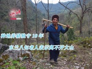 脸谱:种地养猪独守10年 八旬老人表示离不开大山