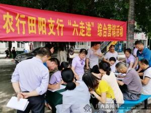 农行田阳县支行开展走进校园宣传营销活动