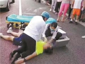 6月15日焦点图:南宁一跑友在南湖边倒地身亡