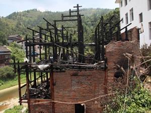 18日焦点:三江同乐乡一楼房起火 一家4口不幸遇难