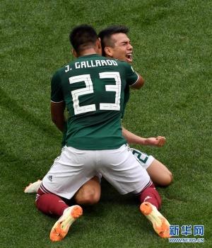 墨西哥队攻入德国一球后,是这么庆祝的!