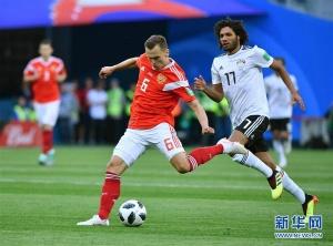 2018世界杯A组:埃及1:3不敌俄罗斯(高清)
