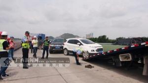 桂柳高速开展高速路突发事故应急救援演练(图)
