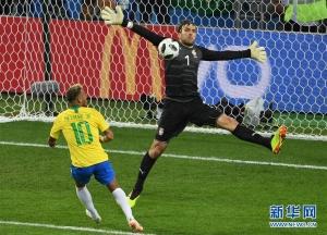俄罗斯世界杯小组赛E组:巴西队晋级十六强