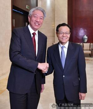 陈武会见新加坡副总理张志贤