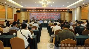 宁明举办庆祝花山岩画申遗成功两周年专家座谈会