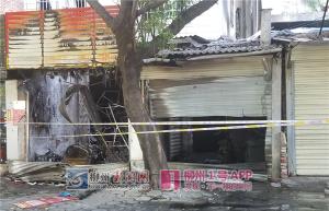 柳南区红桥路两间门面凌晨发生火灾 造成两死两伤