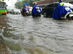 南宁城区7月24日降温降雨 部分路段积水(组图)