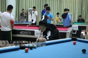 广西体育局江南训练基地运动员跨项参加台球赛