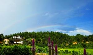 航拍:雨后出现双彩虹 融安添亮丽风景