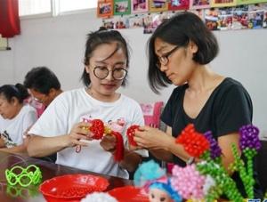 串珠编织带动残疾人就业