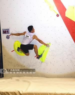 广西运动员莫双溪获2018中国攀岩联赛长沙站银牌