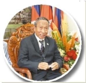 访柬埔寨-中国友好协会主席艾森沃