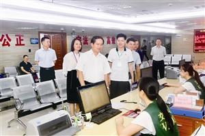全桂寿调研行政审批改革和政务服务情况